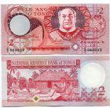 Beautiful banknote Tonga Pick number 32 - 2 Pa'anga