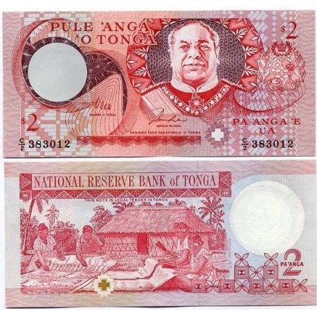Billets de collection Billet de banque Tonga Pk N° 32 - banque de 2 Pa'anga Billets du Tonga 8,00 €