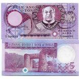 Banknoten Sammlung Tonga Pick Nummer 33 - 5 Pa'anga