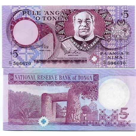 Billets de collection Billet de collection Tonga Pk N° 33 - collection de 5 Pa'anga Billets du Tonga 12,00 €