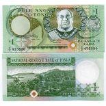Banconote Tonga Pick numero 31 - 1 Pa'anga