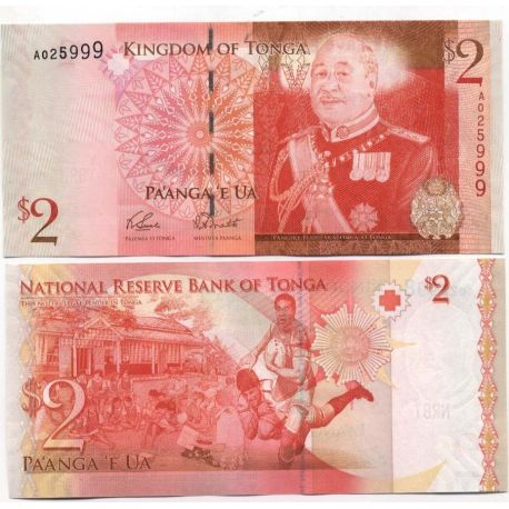 Billets de collection Billets banque Tonga Pk N° 38 - 2 Pa'anga Billets du Tonga 6,00 €
