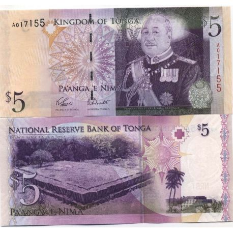 Billets de collection Billets collection Tonga Pk N° 39 - 5 Pa'anga Billets du Tonga 11,00 €