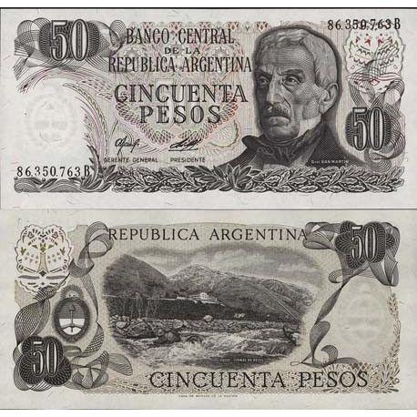 Argentinien - Pk Nr. 301 - Ticket von 50 Pesos