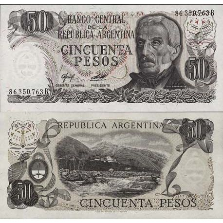 Billets de collection Billet de collection Argentine Pk N° 301 - 50 Pesos Billets d'Argentine 2,00 €