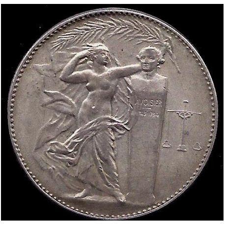 Médaille : Buste de Lavoisier - Balance - SUP