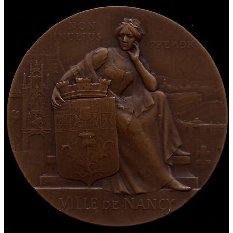 Médaille : Ville de Nancy - Blason - Eglise - Croix de Lorraine - SUP