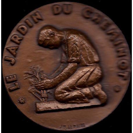 Médaille : Le Jardin du cheminot par JM Lemaire - SUP