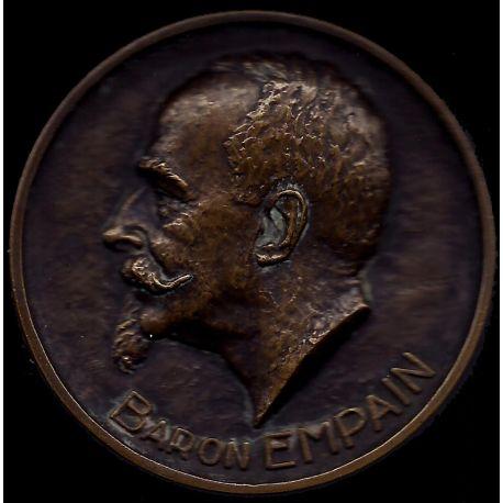 Médaille : Baron Empain par R. Cliquet - SUP