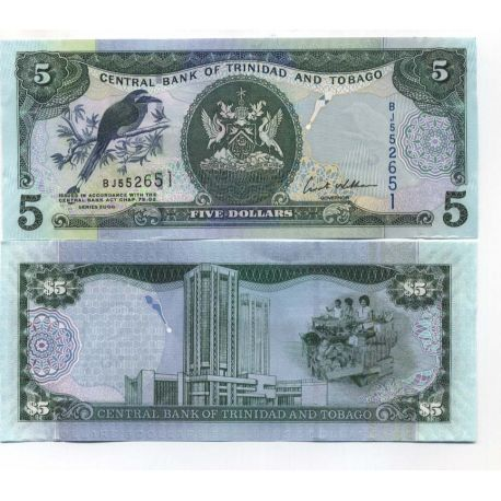 Trinite & Tobago - Pk N° 42 - Billet de 5 Dollars