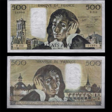 Billets de banque France - 500 Francs B.Pascal TTB+