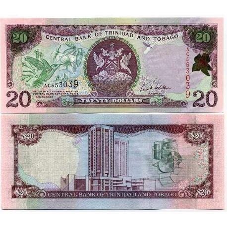Trinidad & Tobago - Pk No. 44 - Ticket 20 Dollars