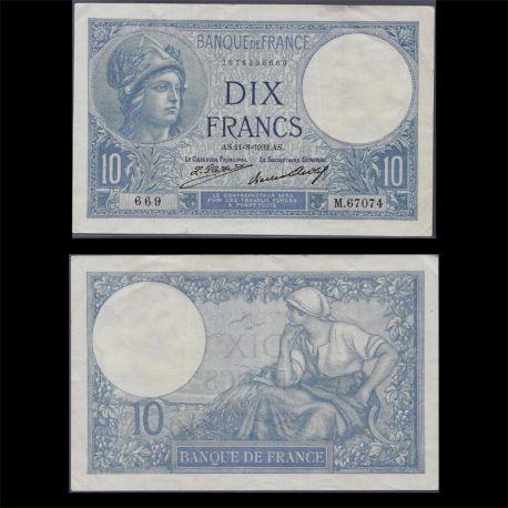 France : Billet de 10 Francs - Minerve 32 - TTB+