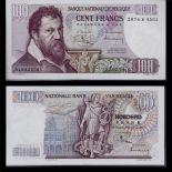 Banconota raccolta Belgio 100 franchi - SPL carta