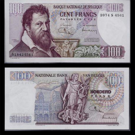 Billet de 100 Francs Belgique collection - Billet de banque SPL