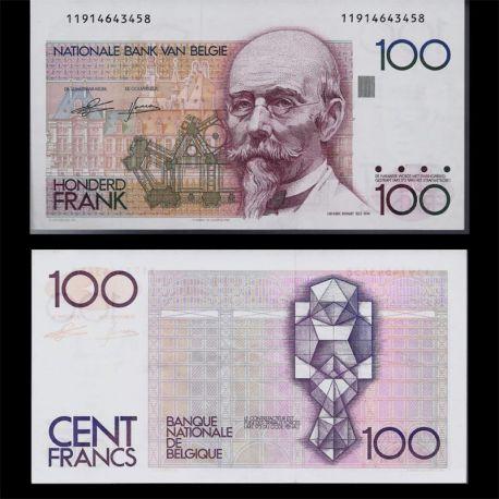 Billet de collection Belqique : Billet de 100 Francs - Billet de banque type SPL