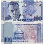 Banconote Armenia Pick numero 42 - 100 Dirham 1998
