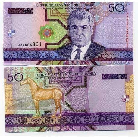Turkmenistan - Pk N° 17 - Billet de 50 Manats