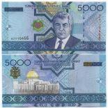 Banknoten Sammlung Turkmenistan Pick Nummer 21 - 5000 Manat