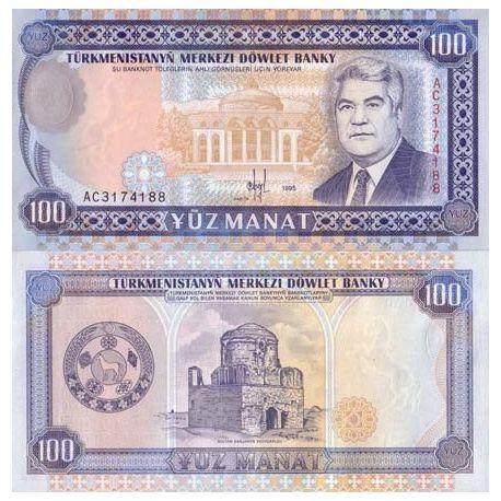 Turkmenistan - Pk N° 6 - Billet de 100 Manats