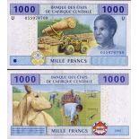 Billets de banque Afrique Centrale Cameroun Pk N° 207 - 1000 Francs