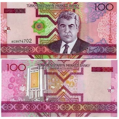 Billets de collection Billets collection Turkmenistan Pk N° 18 - 100 Manats Billets du Turkmenistan 2,00 €