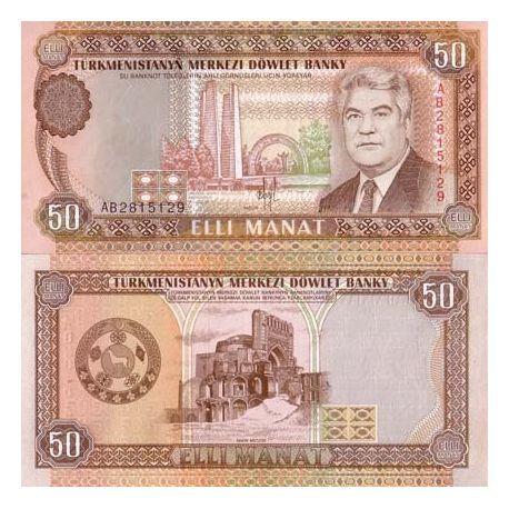Turkmenistan - Pk Nr. 5 - Ticket für 50 Manat