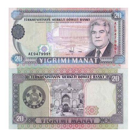 Turkmenistan - Pk N° 4 - Billet de 20 Manats
