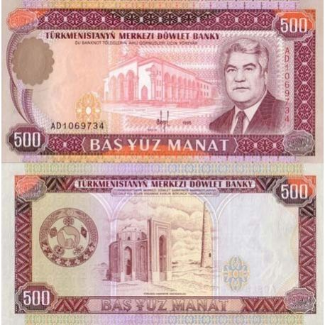 Billets de collection Billets collection Turkmenistan Pk N° 7 - 500 Manats Billets du Turkmenistan 5,50 €