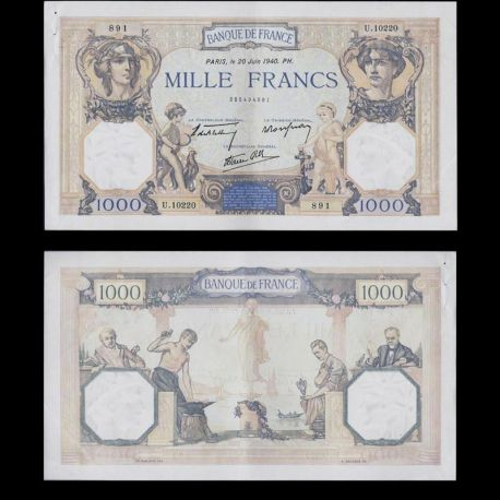 France : Billet de 1000 Francs - Cérés & Mércure - SPL