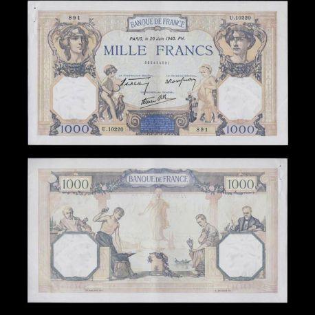 Billet de 1000 Francs - Billet France SPL Cérés & Mércure - SPL