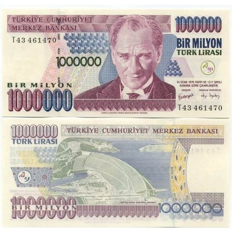 Turquie - Pk N° 209 - Billet de 1 MILLION Lira