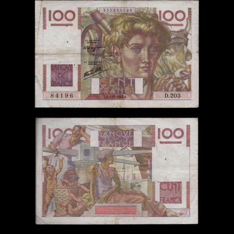 France : Billet de 100 Francs - Paysan - TTB