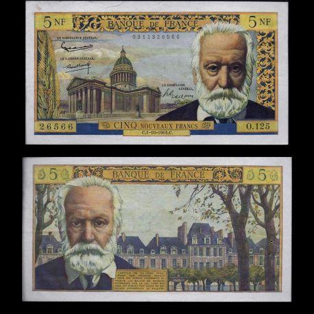 France : Billet de 5 Francs - V.Hugo - SUP