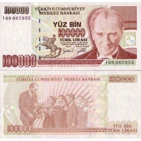 Billet de collection Turquie Pk N° 205 - 100000 Lira
