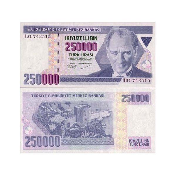 billet de banque turque 2017