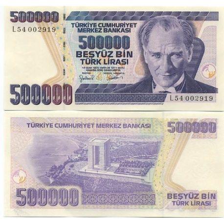 Billets banque Turquie Pk N° 208 - 500 000 Lira