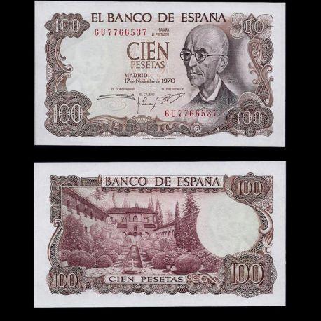 Billets de banque Espagne - 100 Pesetas M de Falla NEUF