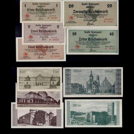 Billets de collection Allemagne : Ensemble de 5 billets de Stuggart - NEUF Billets d'Allemagne 49,50 €