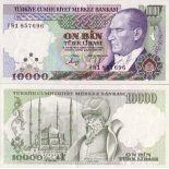 Billet de collection Turquie Pk N° 200 - 10000 Lira
