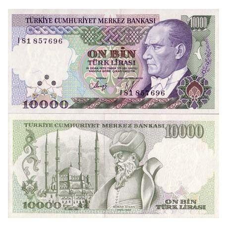 Billets de collection Billet de collection Turquie Pk N° 200 - 10000 Lira Billets de Turquie 3,00 €