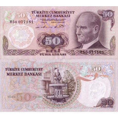 Billets de collection Billets de banque Turquie Pk N° 188 - 50 Lira Billets de Turquie 3,00 €