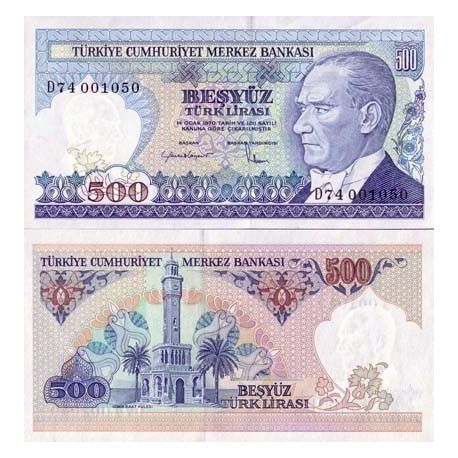 Billets collection Turquie Pk N° 195 - 500 Lira