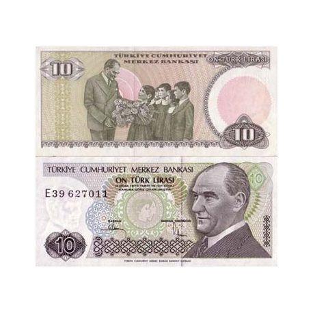 Billets banque Turquie Pk N° 192 - 10 Lira