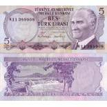 Billete de colección Turquía PK N° 185 - 5 leerá