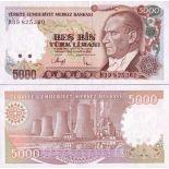 Billets de banque Turquie Pk N° 198 - 5000 Lira