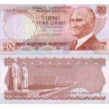 Banknotes collection Turkey Pick N° 187 - 20 Lira