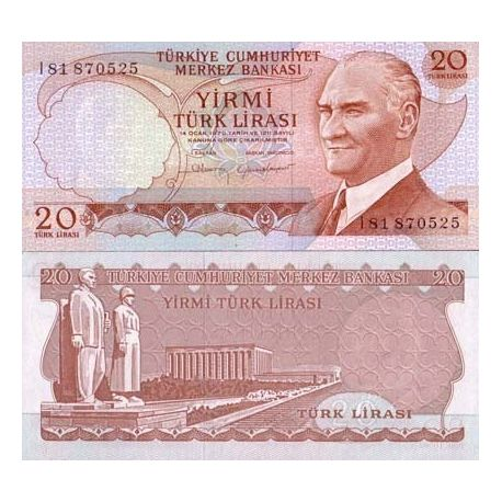 Billets collection Turquie Pk N° 187 - 20 Lira