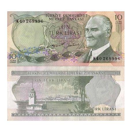 Billet de banque Turquie Pk N° 186 - 10 Lira