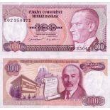 Billet de collection Turquie Pk N° 194 - 100 Lira